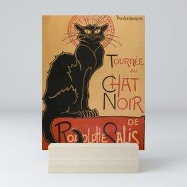 Le Chat Noir The Black Cat Poster by Théophile Steinlen Mini Art Print