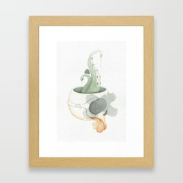 Squid Brain Framed Art Print