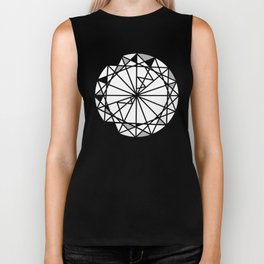 Diamond - round cut geometric design Biker Tank
