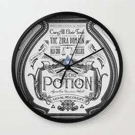 Legend of Zelda Blue Chu Potion Advertisement Wall Clock