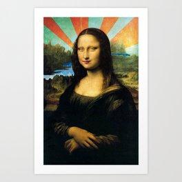 Mona Surrealisa Art Print