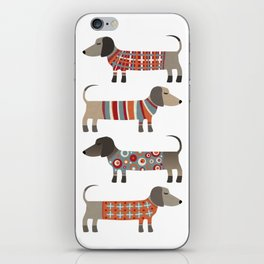 Sausage Dogs in Sweaters iPhone Skin