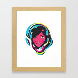 CMYK girl Framed Art Print