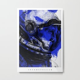 Interstellar - Movie Inspired Art Metal Print