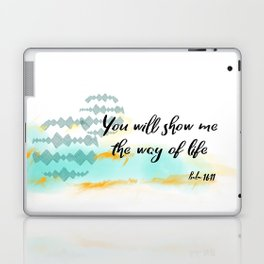 Pslam 16:11 Way of Life, Christian Scripture Abstract Art Laptop & iPad Skin