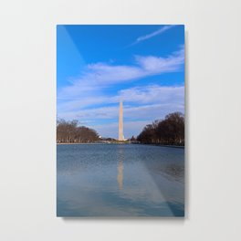 The Washington Monumet On Christmas Day 2017 Metal Print