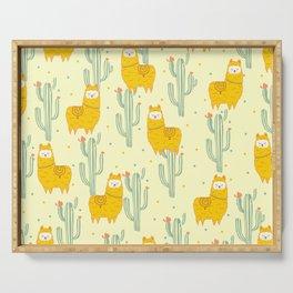 Alpaca summer pattern Serving Tray