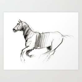 Horse (New Wild II) Art Print