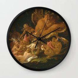 Sir Joseph Noel Paton - Puck And Fairies  From A Midsummer Nights Dream Wall Clock