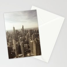 Chicago Buildings Sears Tower Sky Sun Color Photo Stationery Cards