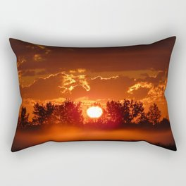 Ghost Horses of the Misty Dawn Rectangular Pillow