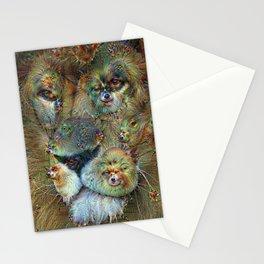 Dream Creatures, Lion, DeepDream Stationery Cards