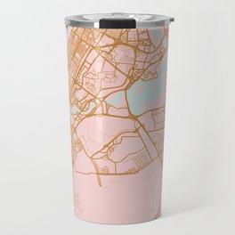 Dubai map, United Arab Emirates Travel Mug
