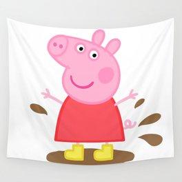 Peppa Pig Muddy puddles Wall Tapestry