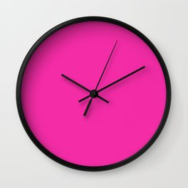 Electric Pink color Wall Clock