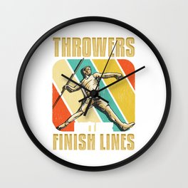 Throwers Don't Have Finish Lines Funny Javelin Wall Clock
