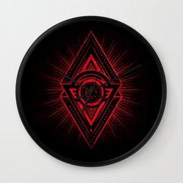 The Eye of Providence is watching you! (Diabolic red Freemason / Illuminati symbolic) Wall Clock
