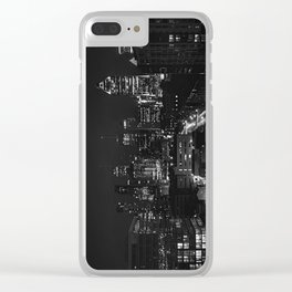 Montreal Skyline B&W Clear iPhone Case