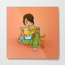 Cat Lady Metal Print