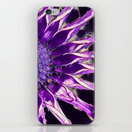 African Daisy in Manipulated Purple iPhone Skin
