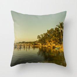 Key Largo Gold Throw Pillow