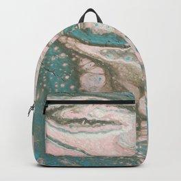 Dirty Acrylic Paint Pour 20, Fluid Art Reproduction Backpack