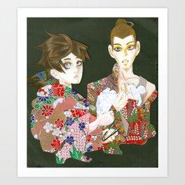 Papercut Art Print