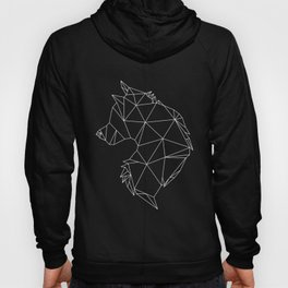 Geometric Wolf (White on Grey) Hoody