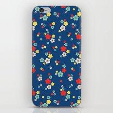 blossom ditsy in monaco blue iPhone & iPod Skin