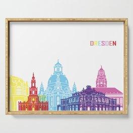 Dresden skyline pop Serving Tray