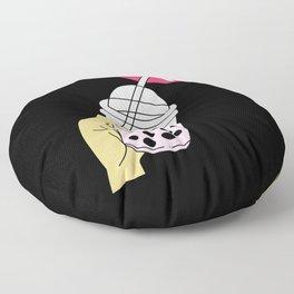 Bubble Tea Women Sipping Boba Tea Floor Pillow