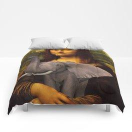 Mona Lisa With Elephant Comforters