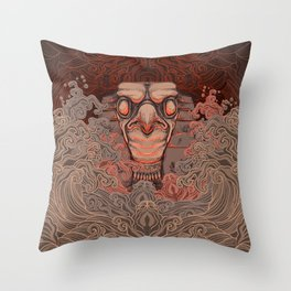 Horus in the Water Throw Pillow
