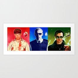 The Cornetto trilogy  Art Print