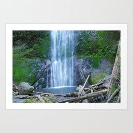 Waterfall Violet, Moss Green Art Print