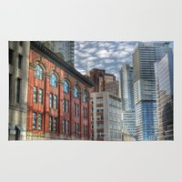 vancouver Area & Throw Rugs featuring Vancouver Reflections by Benson Hilgemann
