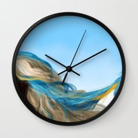 wesley bird Wall Clocks featuring BIRD by John Aslarona