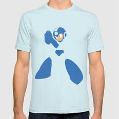 Mega Man - Minimalist - Nintendo Mens Fitted Tee X-LARGE Light Blue