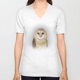 Portrait of a Barn Owl Unisex V-Neck