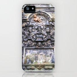 Ancient Grave Stone Greyfriars Kirk Graveyard iPhone Case