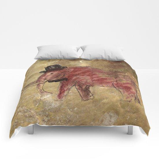 Cave art vintage mamut. Comforters