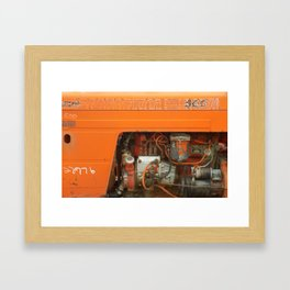 Orange Tractor Abstract Framed Art Print