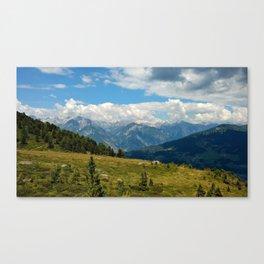 panorama cloudy alps serfaus fiss ladis tyrol austria europe Canvas Print