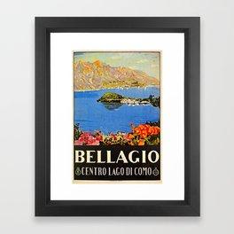 Italy Bellagio Lake Como Framed Art Print