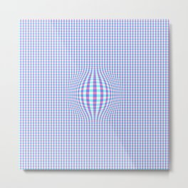 Checkered Illusion  Metal Print