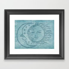 Sun Moon And Stars Batik Framed Art Print