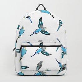 wave parrots pattern Backpack