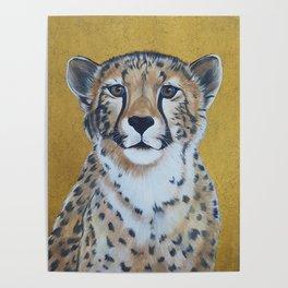 Cheetas, acrylic on canvas Poster