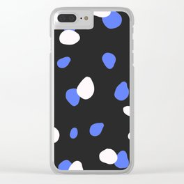 Dark blue terrazzo Clear iPhone Case