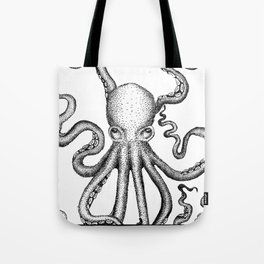 Stippled Octopus  Tote Bag